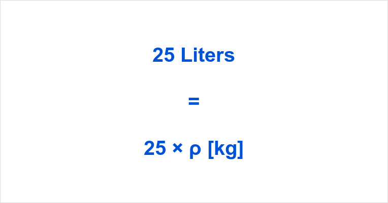 25 Liters in Kg