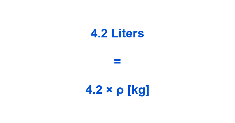 4.2 Liters in Kg