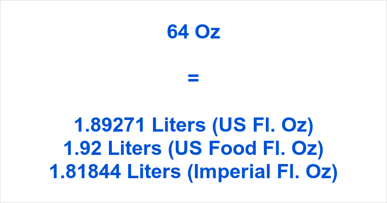 64 Oz to Liters
